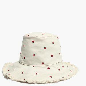 Madewell strawberry bucket hat